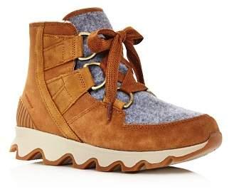 Sorel Women's Kinetic Almond Toe Waterproof Nylon & Leather High-Top Sneakers