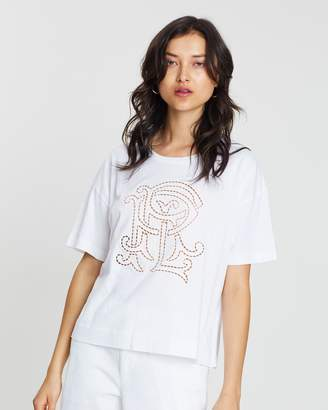 Polo Ralph Lauren Embroidered Monogram Cotton T-Shirt