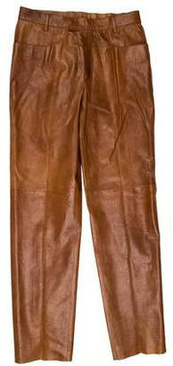Miu Miu Four Pocket Leather Pants