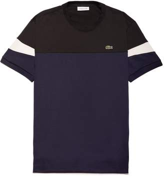 Lacoste Men's Crew Neck Colorblock Soft Jersey T-shirt