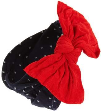 Baby Bling Print Bow Headband