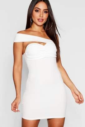 boohoo One Shoulder Sweetheart Neck Bodycon Dress