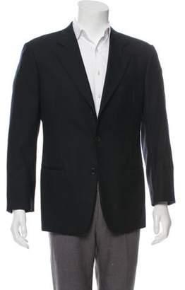 Giorgio Armani Cashmere & Wool Notch-Lapel Blazer black Cashmere & Wool Notch-Lapel Blazer