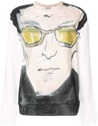 Moncler portrait print sweatshirt