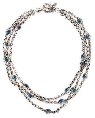 Scott Kay Topaz Multistrand Necklace