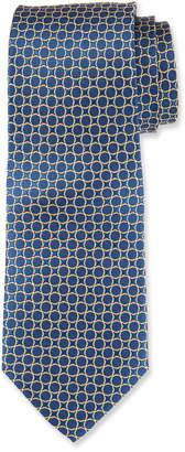 Neiman Marcus Men's Boxed Circle Pattern Silk Tie