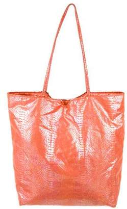 Carlos Falchi Metallic Tote Bag