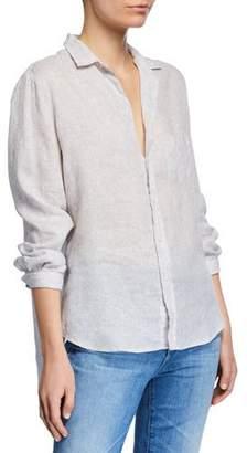 Frank And Eileen Long-Sleeve Linen Button-Down Top