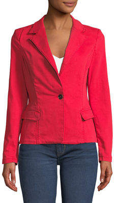 Raison D'etre Canvas Button-Front Blazer