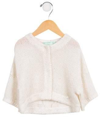 ValMax Girls' Sequined Knit Cardigan