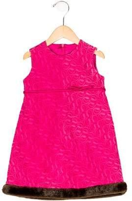Helena Girls' Sleeveless Embroidered Dress