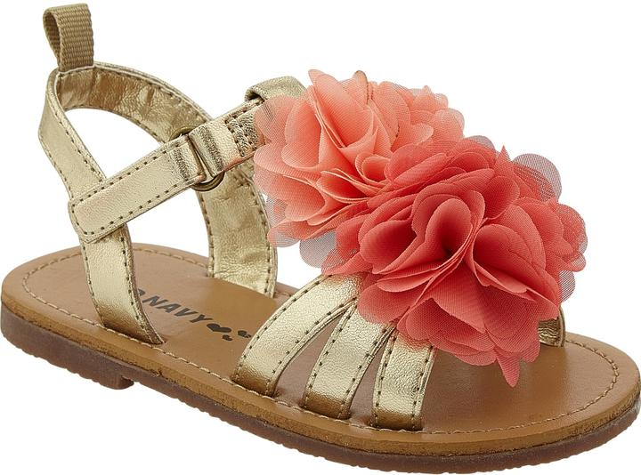 Old Navy Flower-Applique Sandals for Baby