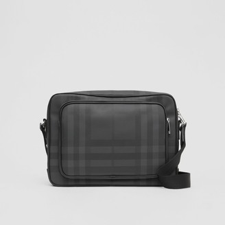 Burberry Check and Leather Messenger Bag