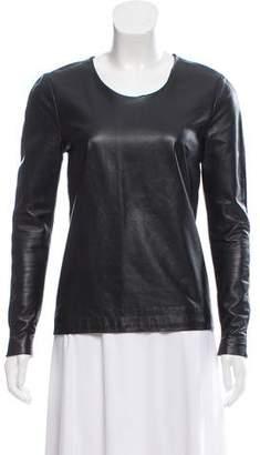 Maison Margiela Leather-Paneled Wool Sweater