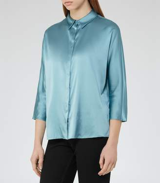 Reiss Larue Satin Blouse