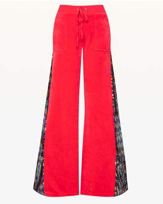 Juicy Couture Candy Glam Sequin Velour Del Rey Pant