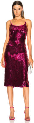 Oscar de la Renta Sequin Low Back Slip Dress