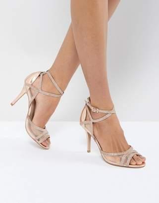 Carvela Glitter Mesh Heeled Sandal