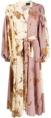 Loewe contrast panel flared dress