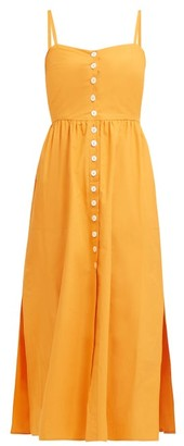 Dakota Belize Cotton Poplin Dress - Womens - Orange
