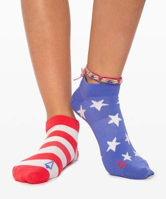 Lululemon Everywhere Sock *4th of July - Girls