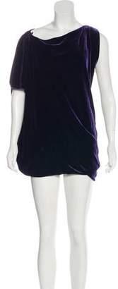 Diane von Furstenberg Wilma Joon Velvet Knee-Length Dress
