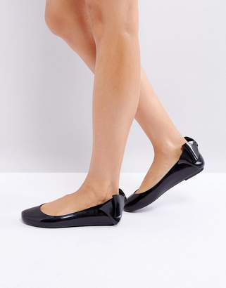 Melissa Space Love Gift Bow Flat Shoe