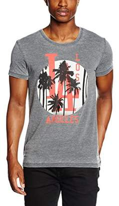 Esprit edc by Men's Photo Burn Out Short Sleeve Sports Shirt