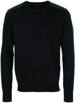 Belstaff quilted shoulder detail sweatshirt