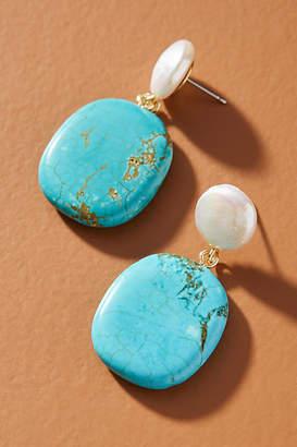 Anthropologie Eloise Pearl Drop Earrings