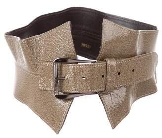 Oscar de la Renta Distressed Waist Belt