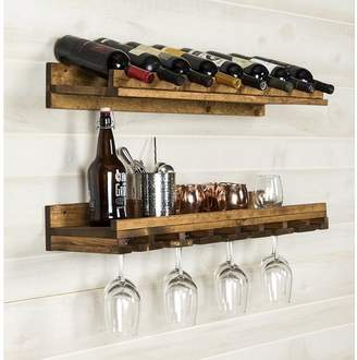 DAY Birger et Mikkelsen Trent Austin Design Berlyn 2 Piece 8 Bottle Wall Mounted Wine Rack Set