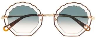 Chloé (クロエ) - Chloé Eyewear shell sunglasses