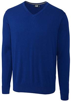 Cutter & Buck Men's Cotton-Rich Classic Lakemont Anti-Pilling V-Neck Sweater