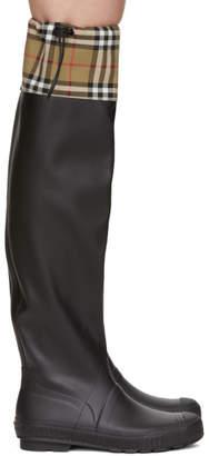 Burberry Black Freddie Rain Boots