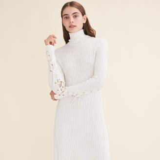 Maje Long tube-knit dress