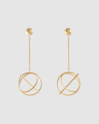 Wanderlust + Co Infusion Gold Drop Earrings