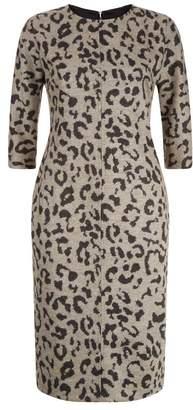 Max Mara Leopard Pencil Dress