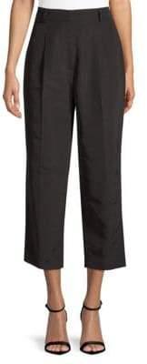 Escada Cropped Silk-Blend Trousers