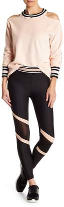 C&C California Stripe Waist Mesh Leggings