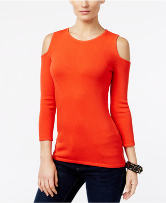 INC International Concepts Cold-Shoulder Sweater, Only at Macy's $59.50 thestylecure.com