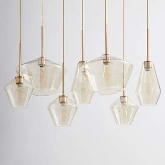 west elm Sculptural Glass Geo 7-Light Chandelier - Mixed