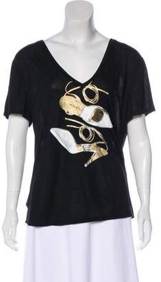 Halston Graphic Short Sleeve Top