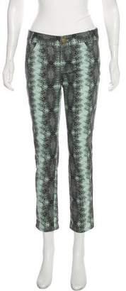 Derek Lam Printed Mid-Rise Jeans