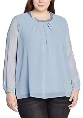 Via Appia Women's 656846 Loose Fit Long Sleeve Blouse,(Manufacturer Size: 46)
