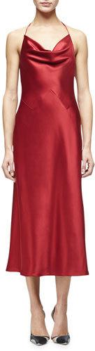 Cushnie Et OchsCushnie Et Ochs Marlena Cowl-Neck Camisole Dress, Ruby
