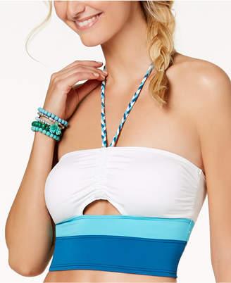Vince Camuto Colorblocked Halter Bikini Top