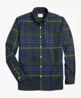 Brooks Brothers Stewart Hunting Tartan Cotton Flannel Sport Shirt