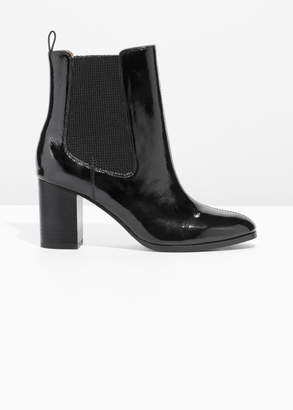 And other stories Patent Leather Chelsea Boot