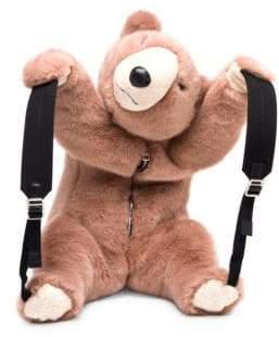 Dolce & Gabbana Faux Fur Teddy Bear Backpack